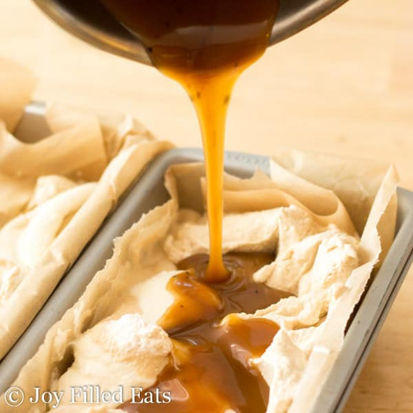 Sweet Cream Coffee Caramel Ice Cream - Low carb, sugar free, THM S