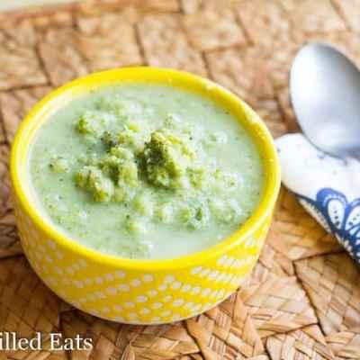 Lemon Parmesan Broccoli Soup