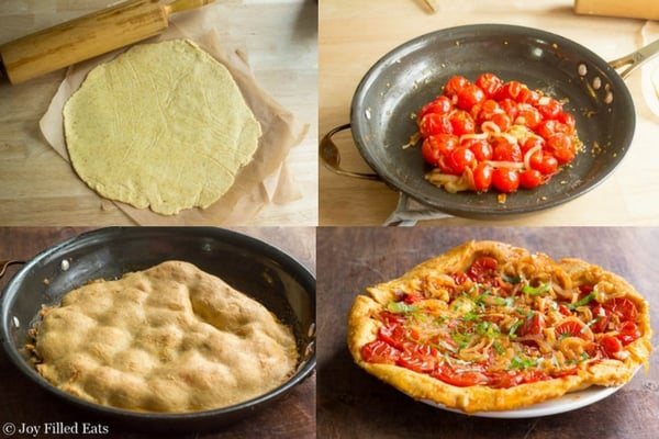 Rustic Tomato Tart - Low Carb, Grain Free, THM S