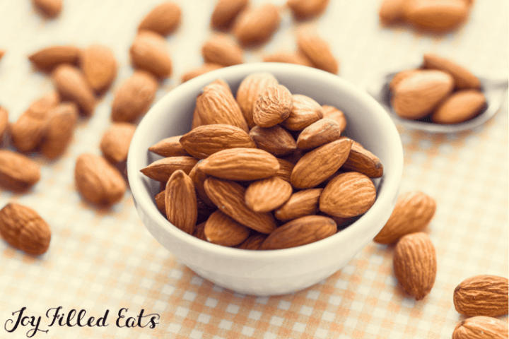 almonds in a small bowl