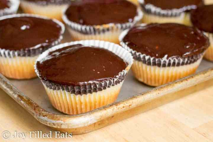 Tagalong Cupcakes - Low Carb, Sugar/Grain/Gluten Free, THM S