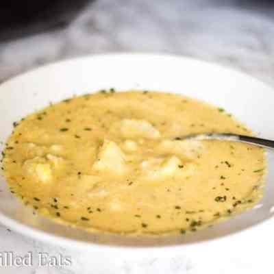 Creamy Cauliflower Soup – Low Carb, THM S