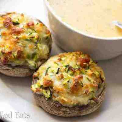 Two Cheese Stuffed Mushrooms – Low Carb, THM S