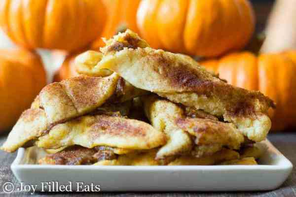 Pumpkin Pie Twists - Low Carb, Sugar/Grain/Gluten Free, THM S