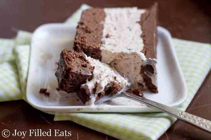 Mint Chocolate Chip Ice Cream Cake - Low Carb, Sugar & Grain Free, THM S