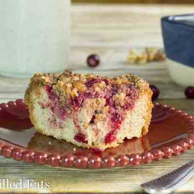 Cranberry Walnut Crumb Cake – Low Carb & Dairy Free