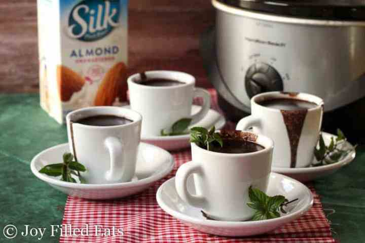 Crock Pot Peppermint Hot Chocolate - Low Carb, Dairy & Sugar Free, THM S
