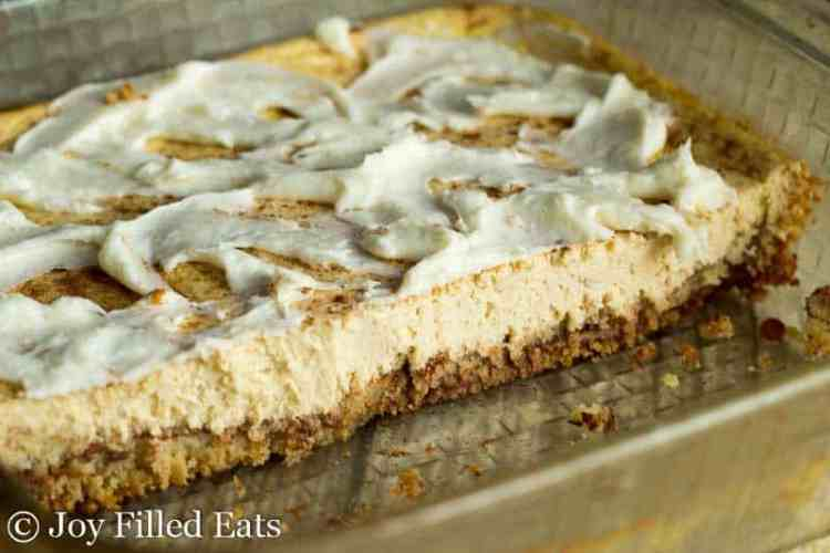 Cinnamon Bun Cheesecake - Low Carb, Grain Free, THM S