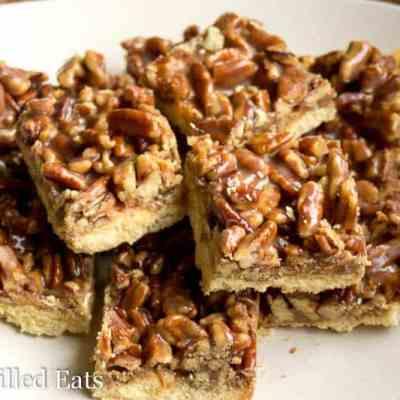 Pecan Praline Cookie Bars