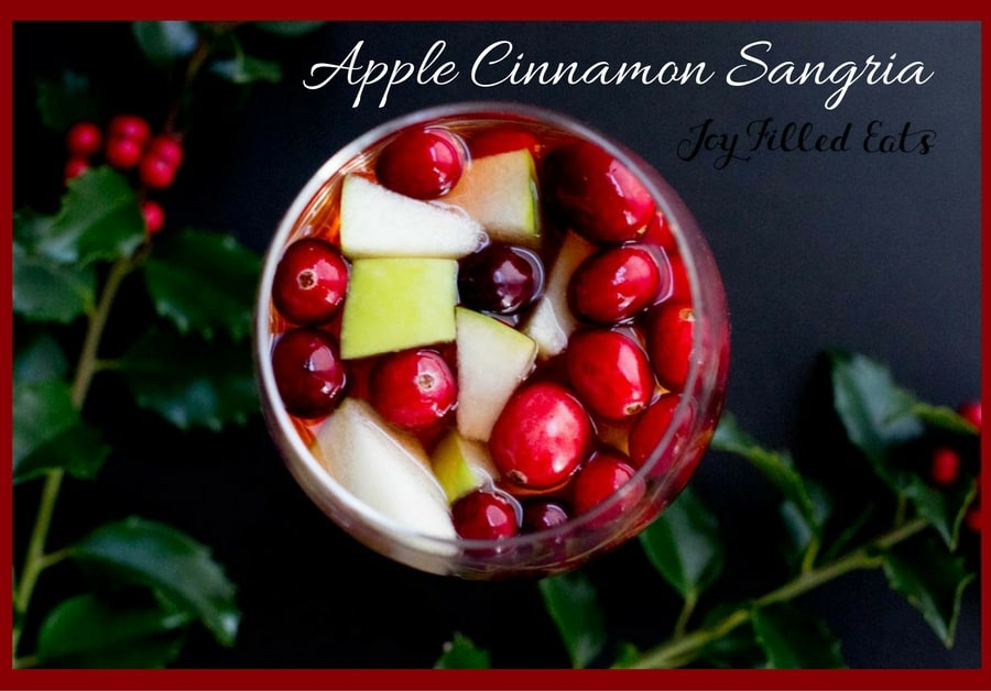Apple Cinnamon Sangria - Low Carb, Sugar Free, THM Friendly