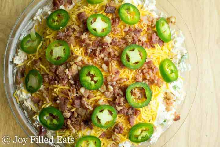 Overhead shot of the Jalapeno Popper Dip Recipe