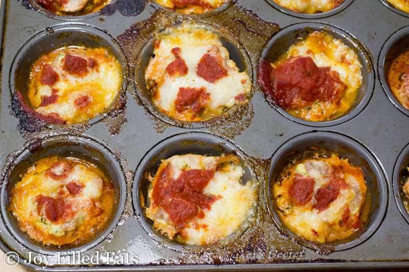 Mini Mozzarella Stuffed Italian Meatloaves - Low Carb, Grain Free, THM S