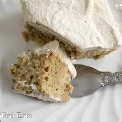 Vanilla Latte Poke Cake – Low Carb, Grain & Sugar Free, THM S