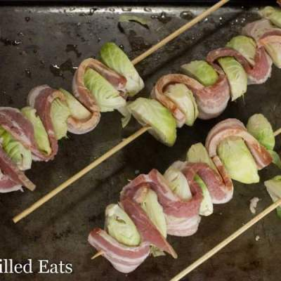 Bacon & Brussels Sprout Kebabs