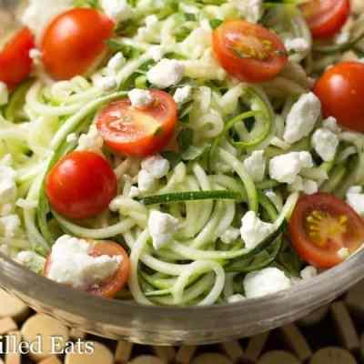 Zucchini Salad with Lemon & Feta – Low Carb, Keto