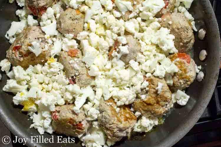 Skillet Basil & Tomato Meatballs - Low Carb, Grain & Gluten Free, THM S