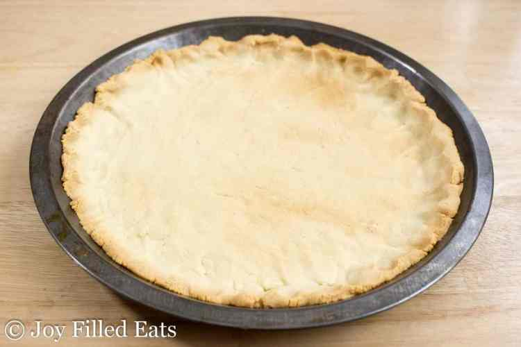 A baked low carb pie crust