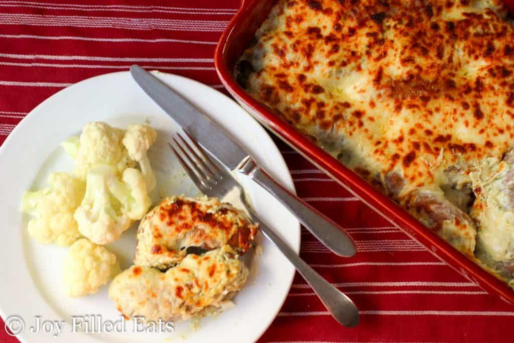 Creamy Basil Baked Sausage - 5 <a  href=