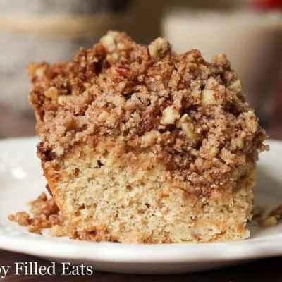 Cinnamon Pecan Crumb Cake – Low Carb, THM S
