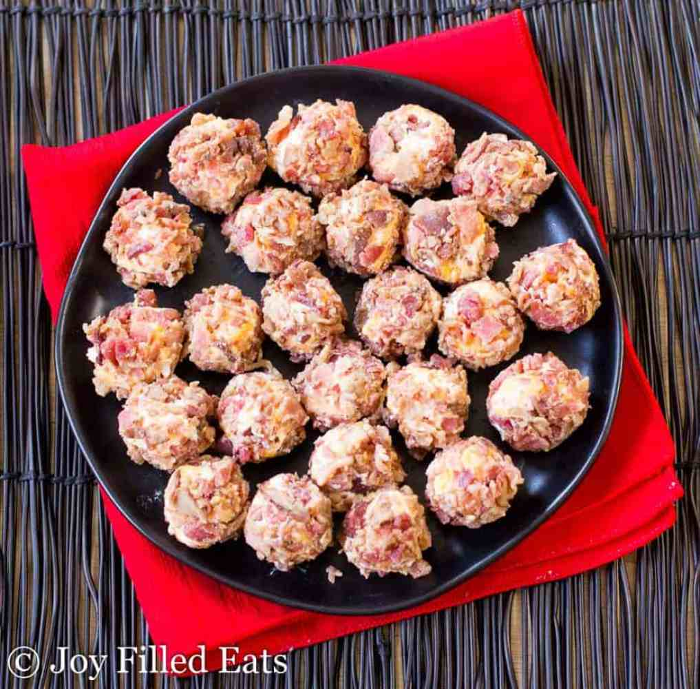 Bacon Cheddar Mini Cheese Balls - Low Carb, Grain Gluten Free, THM S, Keto