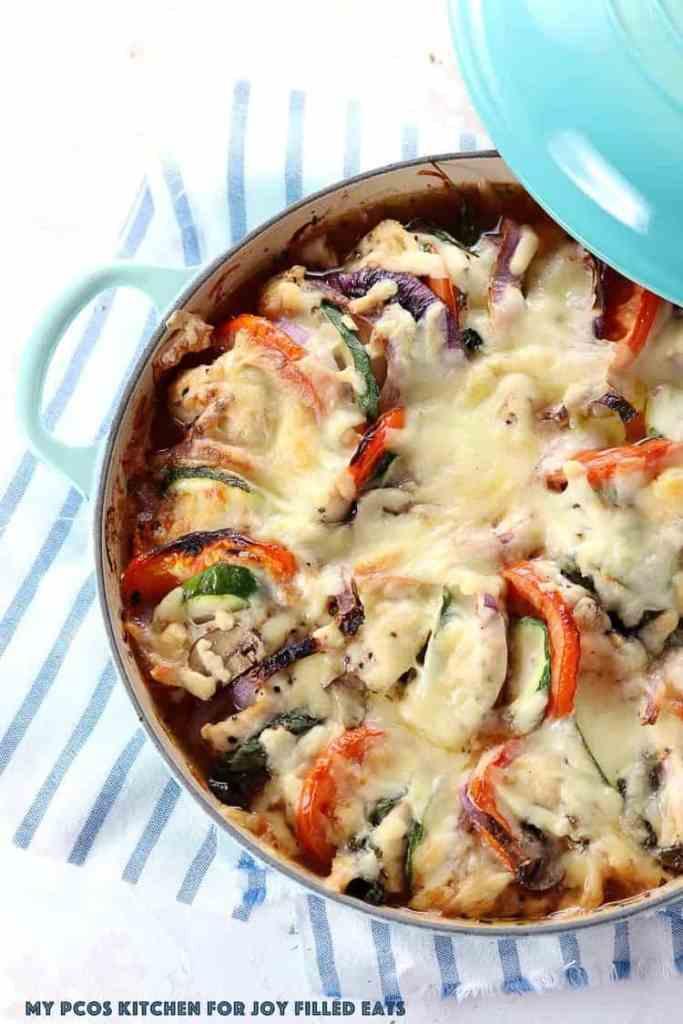 Primavera Cheesy Chicken Bake - Low Carb, Keto, Grain Gluten Free, THM S