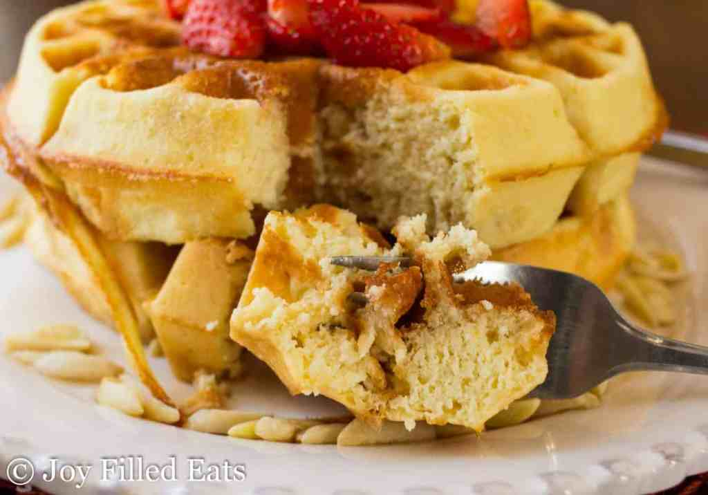 Easy Flourless Almond Low Carb Waffles - Gluten Free, Grain Free, THM S