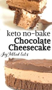No Bake Chocolate Cheesecake Recipe Keto Low Carb Joy