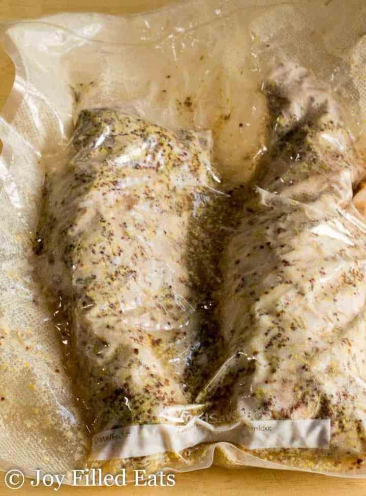 Sous Vide Pork Tenderloin Recipe in a FoodSaver bag