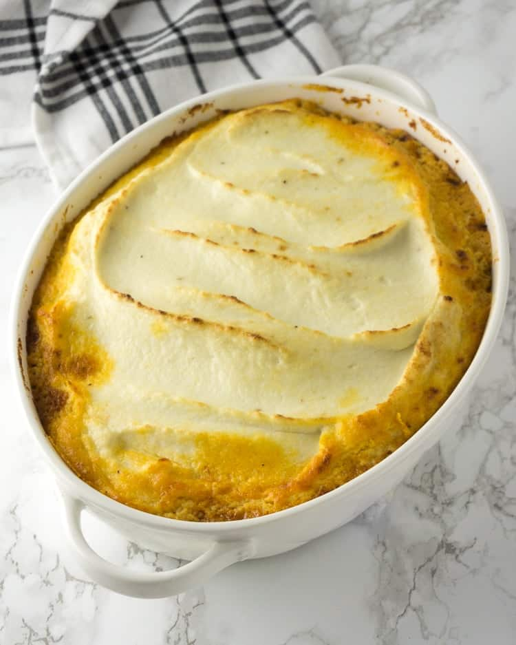 baked shepherd's pie recipe in a casserole