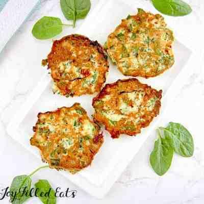 Spinach Feta Savory Pancakes Low Carb Keto THM S