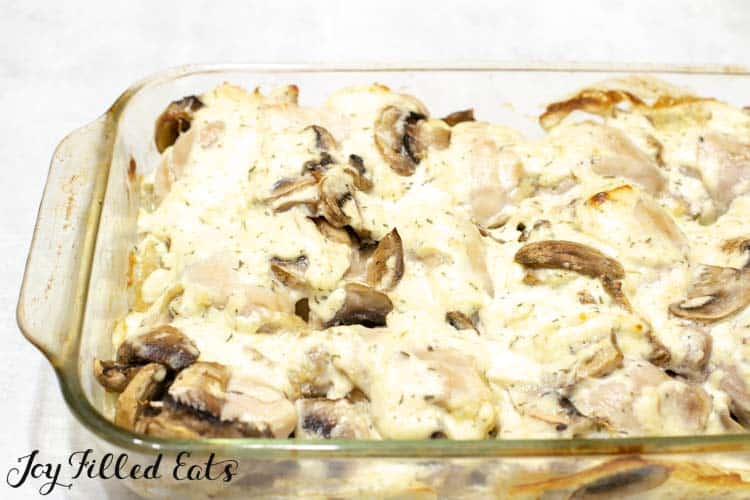 the baked boneless chicken thighs with mushrooms