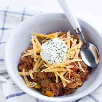 Keto Chili Recipe – Slow Cooker No Bean Chili