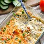 Easy Keto Tex-Mex Poblano Artichoke Dip Recipe