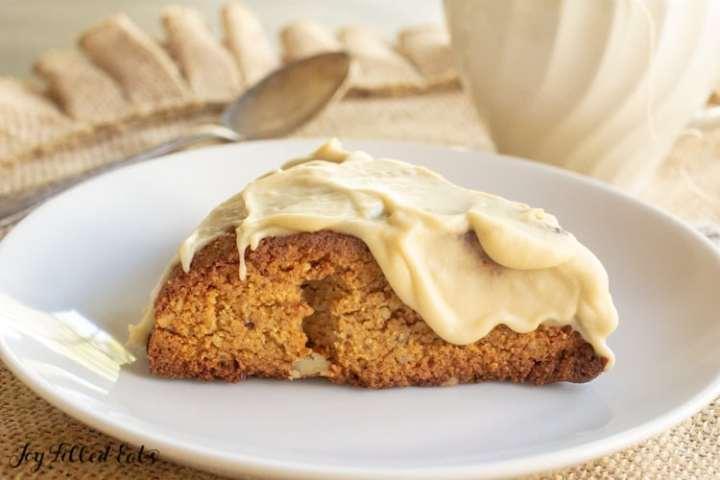 keto scone on a white plate