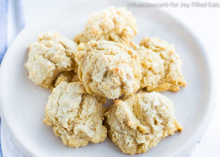 almond flour Biscuits on a white plate
