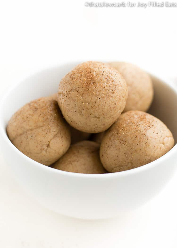a white bowl with easy protein balls