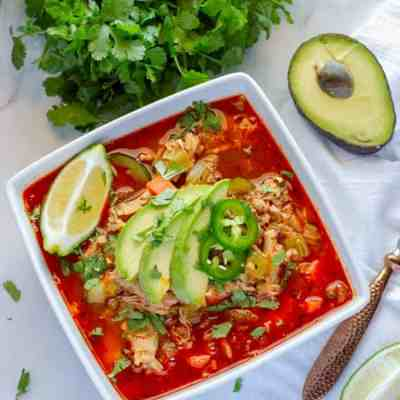 Chicken and Rice Soup Mexican Low Carb Keto