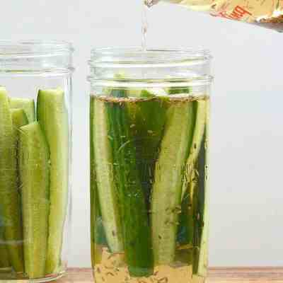 How to Make Refrigerator Pickles Easy Dill Low Carb