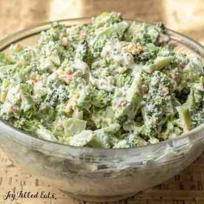 Healthy Broccoli Salad with Bacon Low Carb Keto Easy