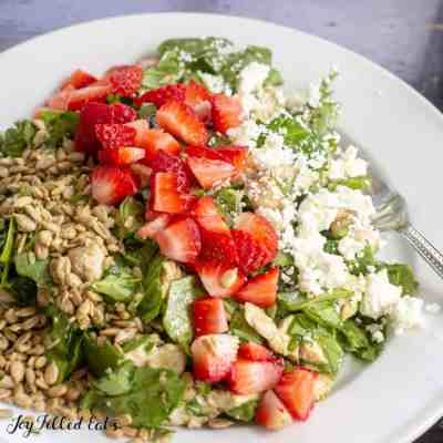 Baby Spinach Salad with Strawberries and Maple Balsamic Dressing