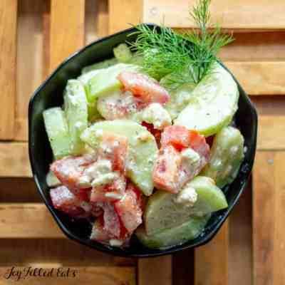 Cucumber Tomato Salad with Lemon Dill Dressing