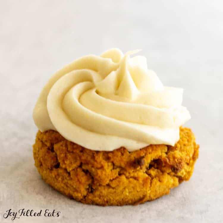 cream cheese frosting on a cookie