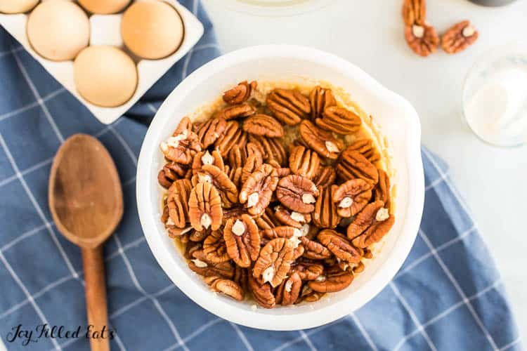 bowl of pecans