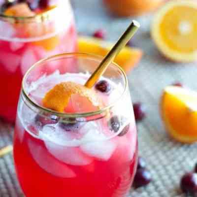Vodka Cranberry Spritzer – Keto, Low Carb