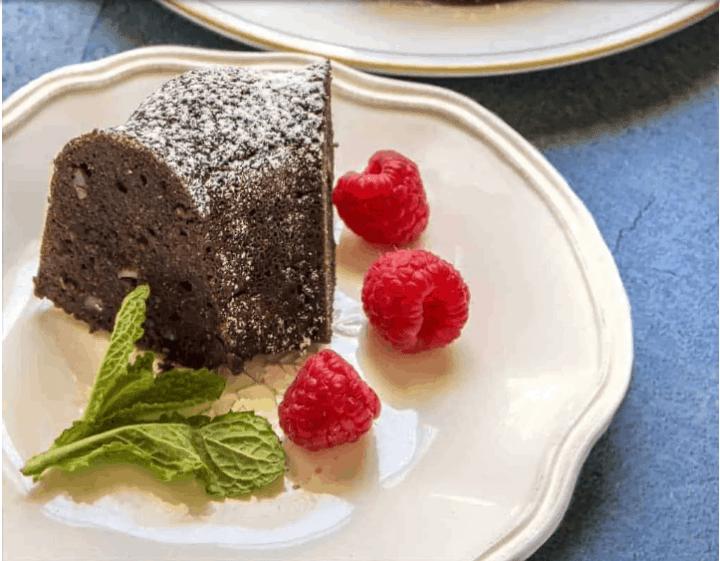 dark chocolate walnut cake from the almond flour cake recipes