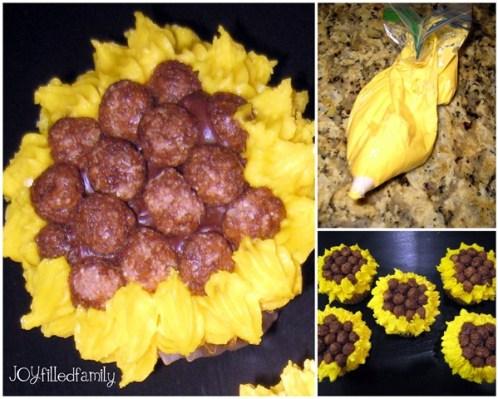 sunflower cupcake design 3