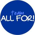 ALL FOR! blue logo