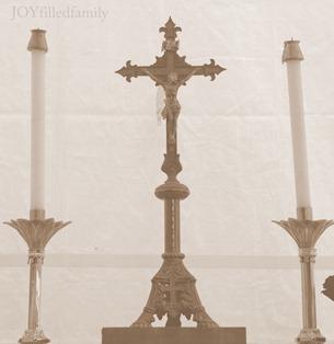 altar crucifix JOY