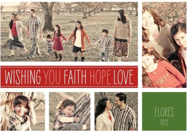 Wishing you Faith Hope and Love FRONT