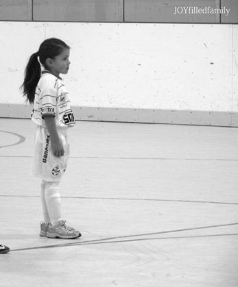 sweetie's first indoor soccer game